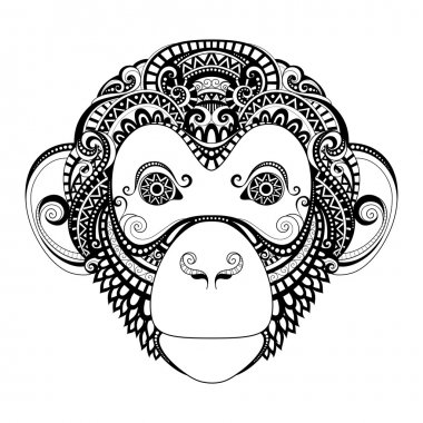 Ornate Monkey Head
