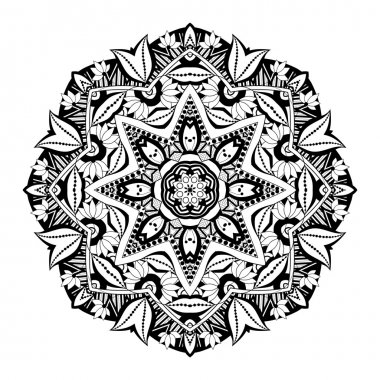 Black Deco Ornament Mandala
