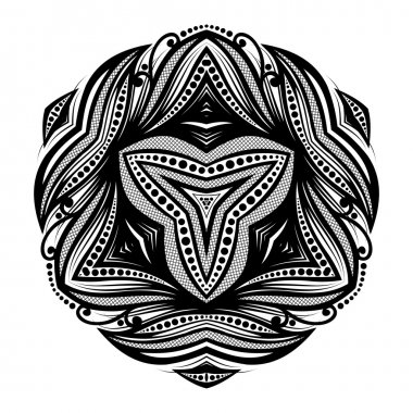 Black Ethnic Ornament Triangle
