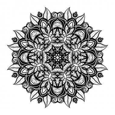 Beautiful Ornament Black Mandala