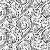 Photo Abstract Seamless Monochrome Floral Pattern