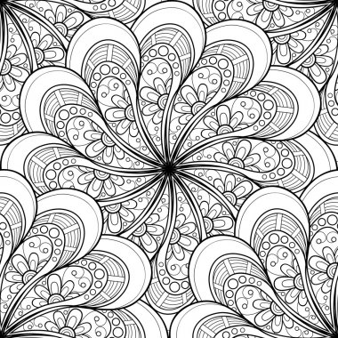 Monochrome Ornament Abstract Pattern