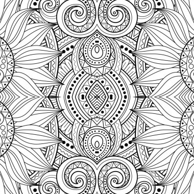 Abstract Black and White Tribal Pattern