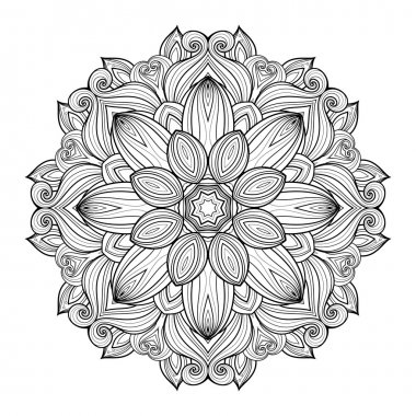 Abstract Ornament Contour Mandala