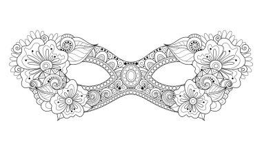 Monochrome Mardi Gras Carnival Mask