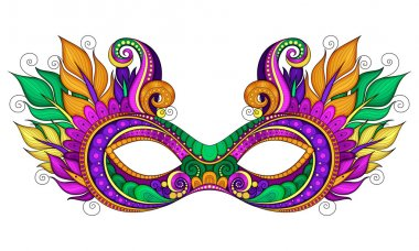 Ornate Mardi Gras Carnival Mask