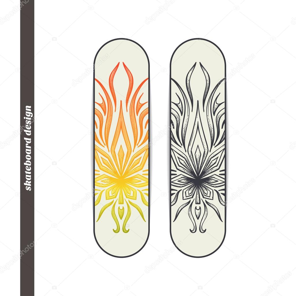 Skateboard Design Abstract Marijuana