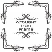 Wrought Iron Frame Nine