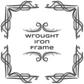 Photo Wrought Iron Frame Nine