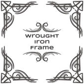Wrought Iron Frame Seven