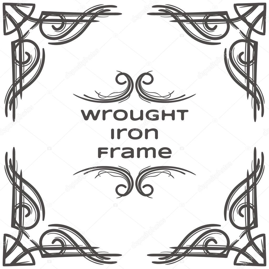 Marco de hierro forjado siete — Vector de stock © frostyara #89858762