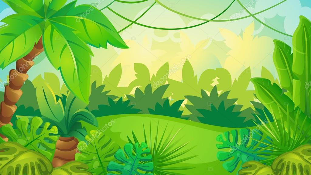 Fondo De Pantalla Selva: Dibujos Animados Fondo Juego De