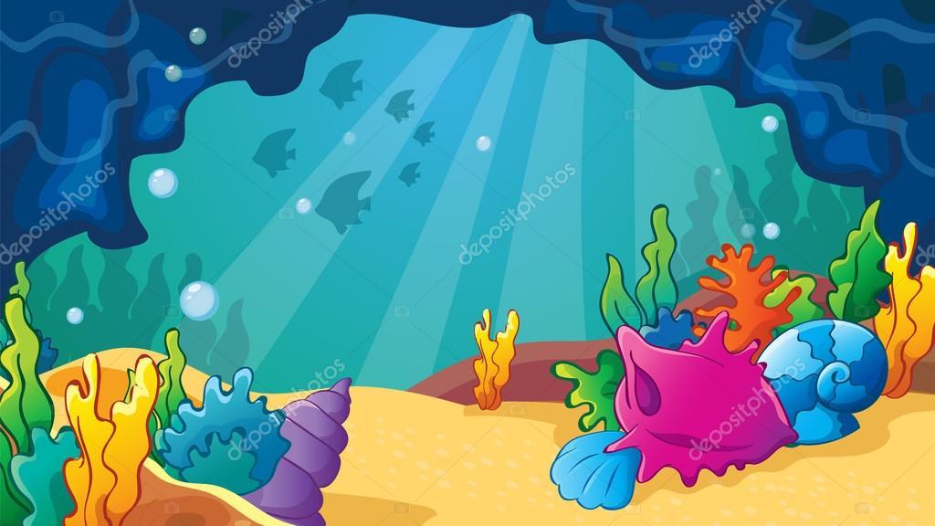 Cartoon Sea Cave With Shells