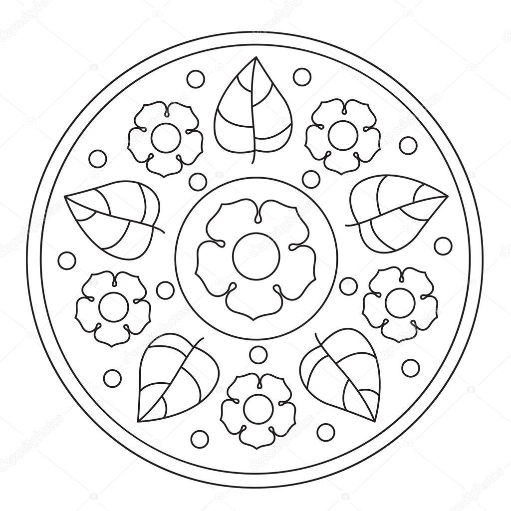 Immagini Di Fiori Facili Da Disegnare Disegni Da Colorare Mandala