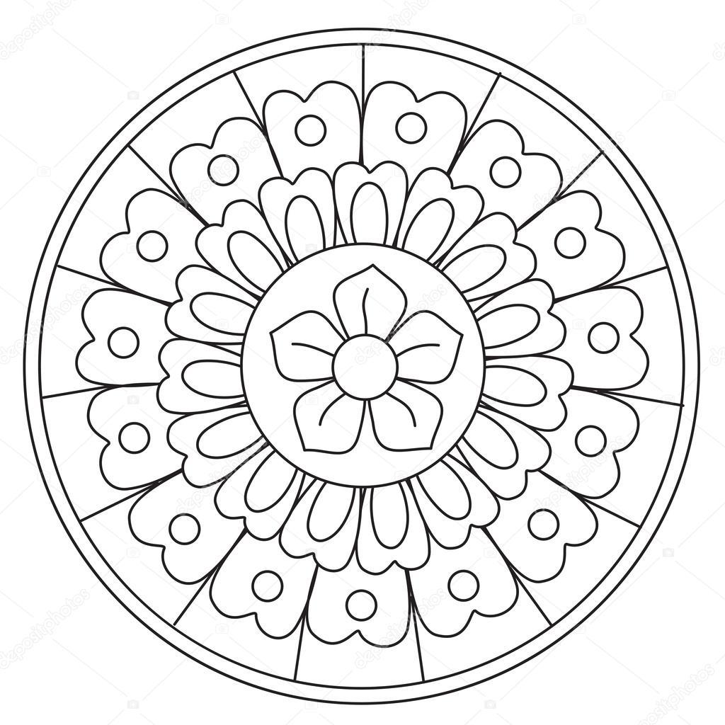 Mandalas Flores Para Niños Mandala Flores De Belleza Para