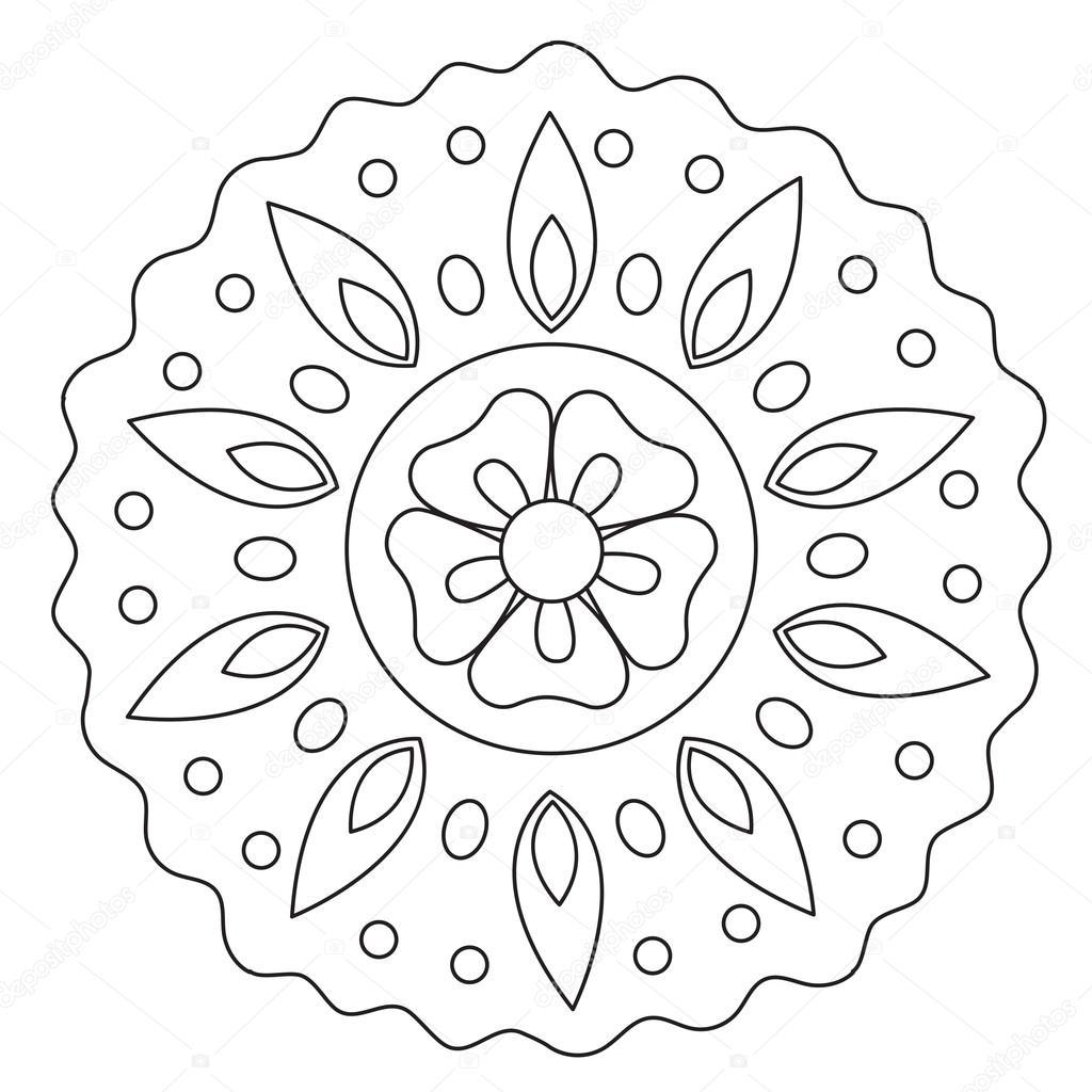 kleuren golf bloemen mandala stockvector 169 ingasmk