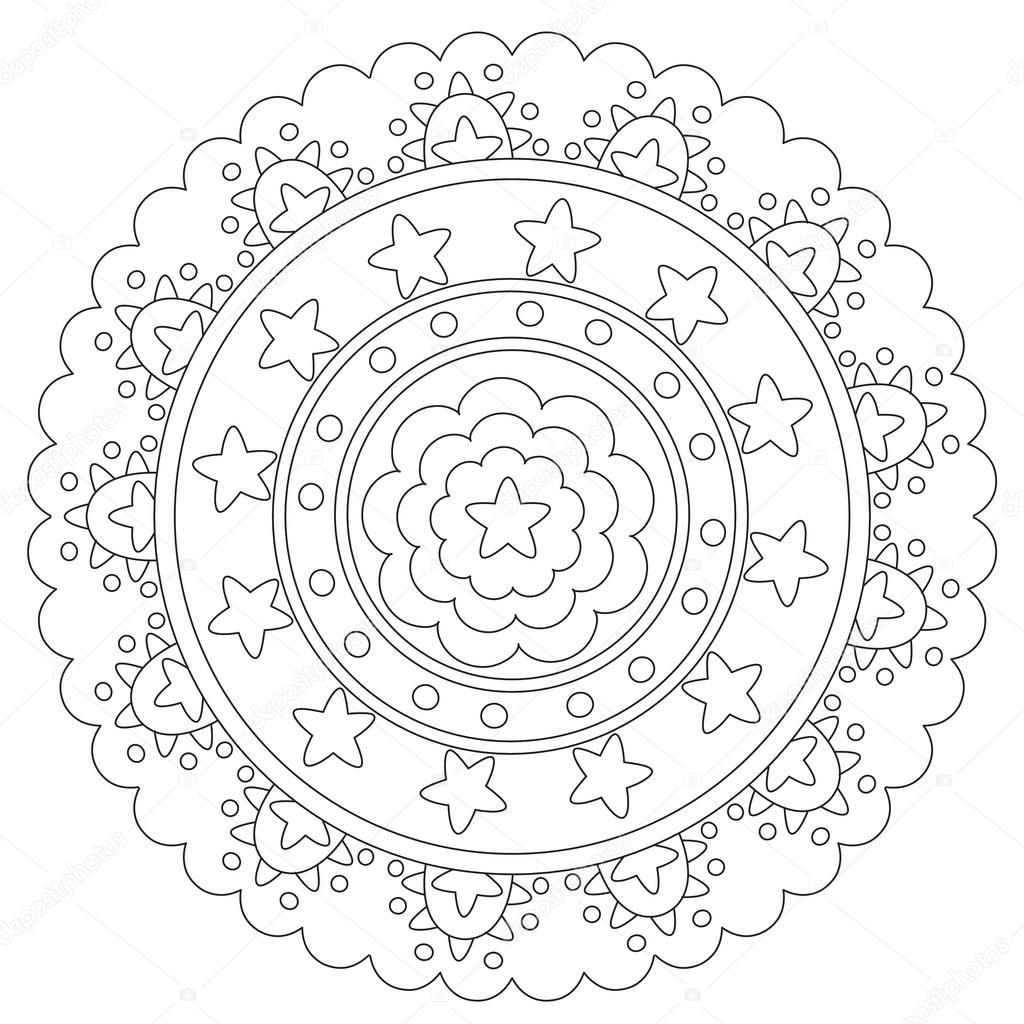 Kleurplaten Mandala Sterren.Geometrische Ster Mandala Kleurplaten Stockvector C Ingasmk 113579450