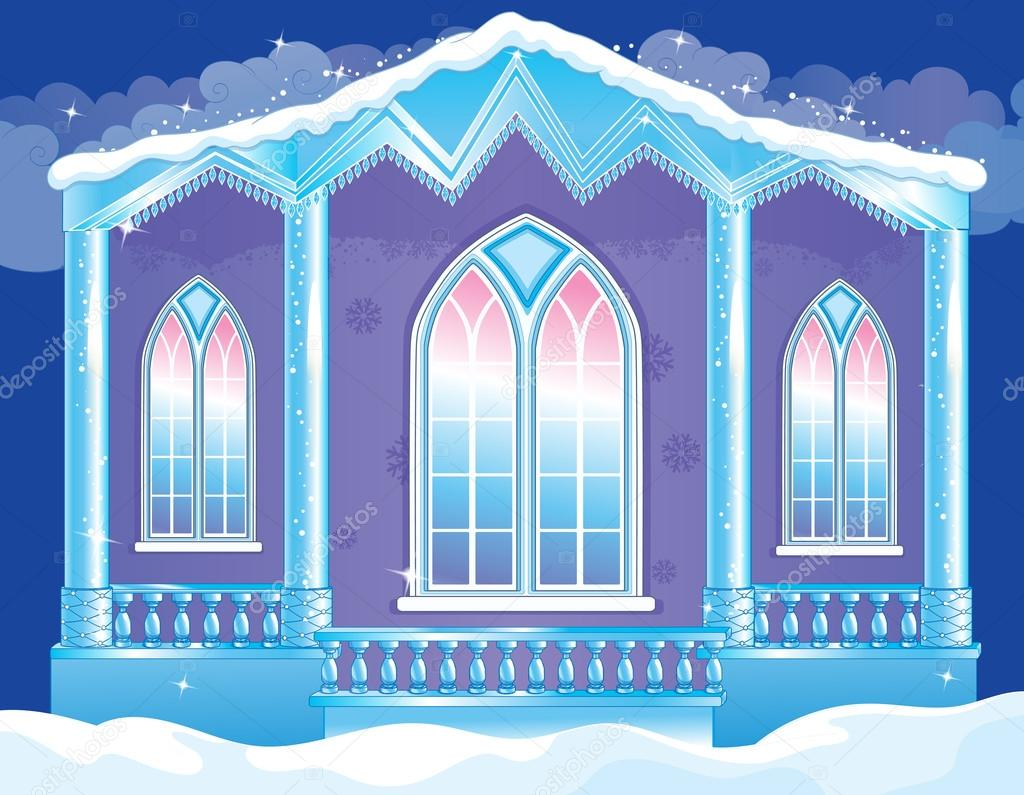 Brilliant Facade Of Ice Palace