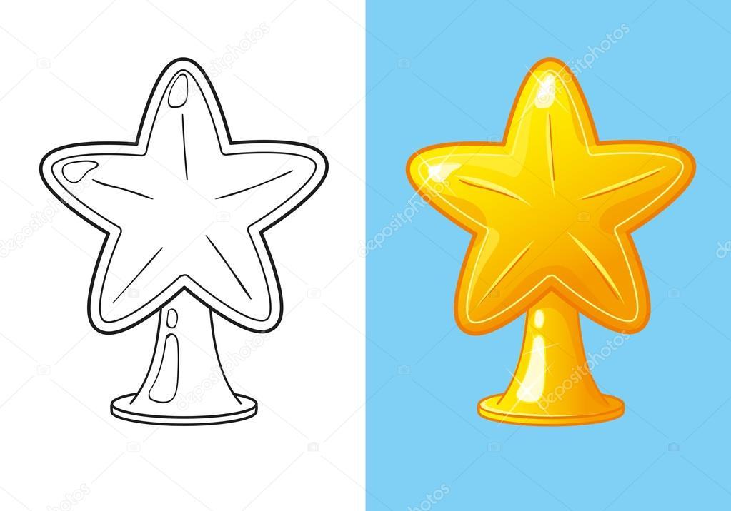 Libro de oro de Navidad para colorear estrellas para el árbol ...