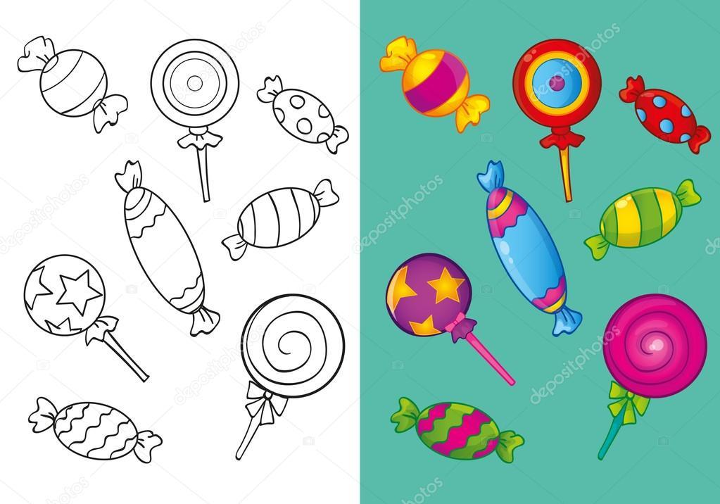 Imágenes Dulces Para Dibujar Libro Para Colorear De Diferentes