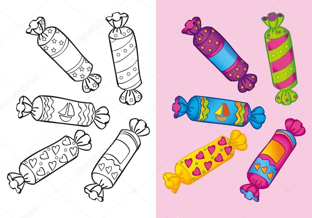 Imágenes Caramelos Para Dibujar Libro Para Colorear De Dulces