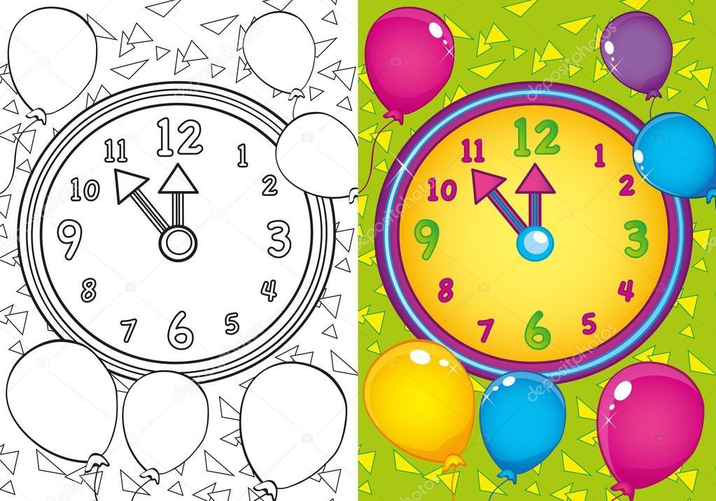 Imágenes Relojes Animados Para Niños Para Colorear Libro Para