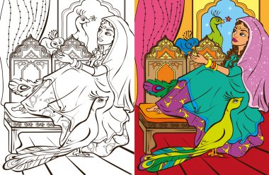 Colouring Book Of Easten Princess