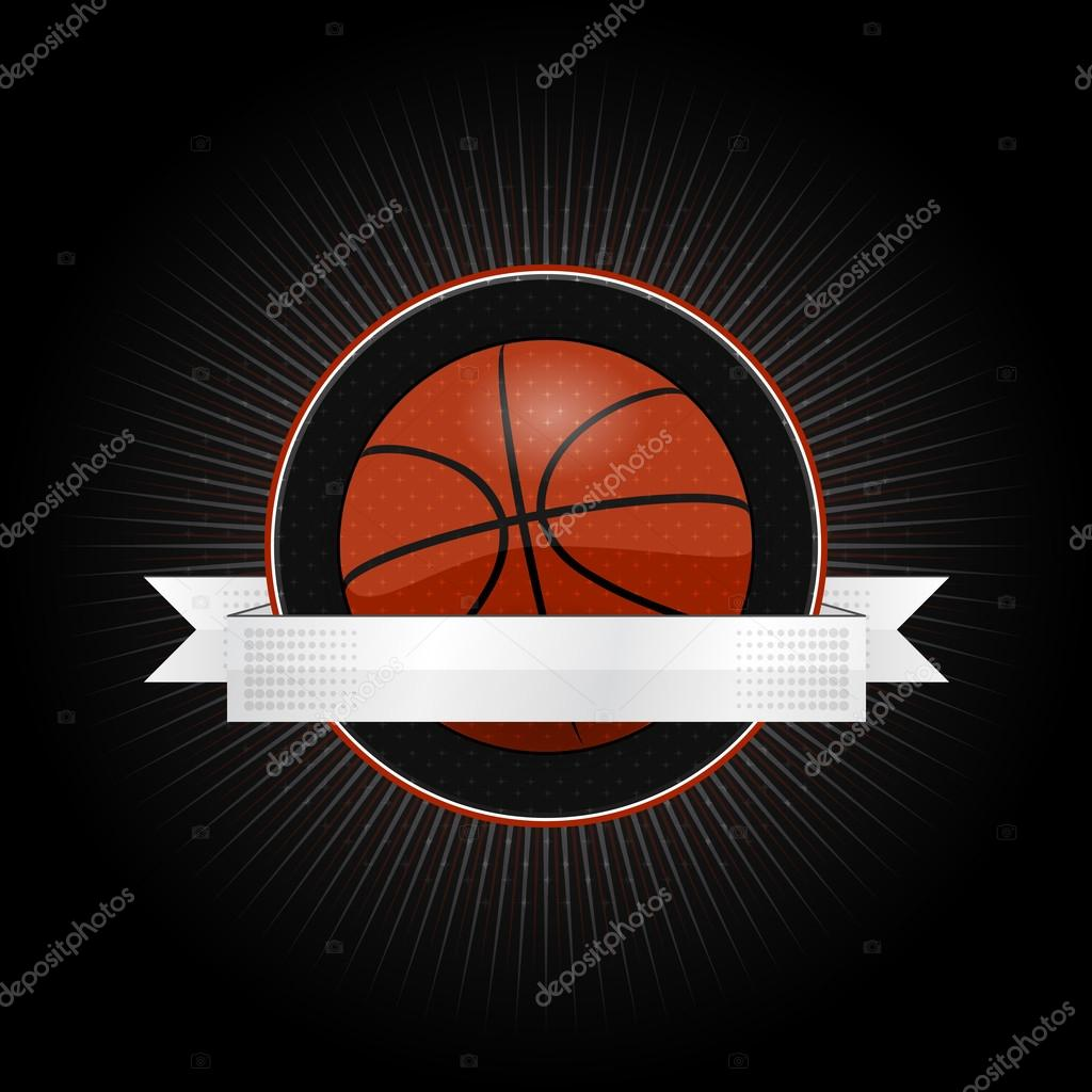 Emblem for basketball with ribbon stock vector vlok 69408235 emblem for basketball with ribbon stock vector biocorpaavc Choice Image