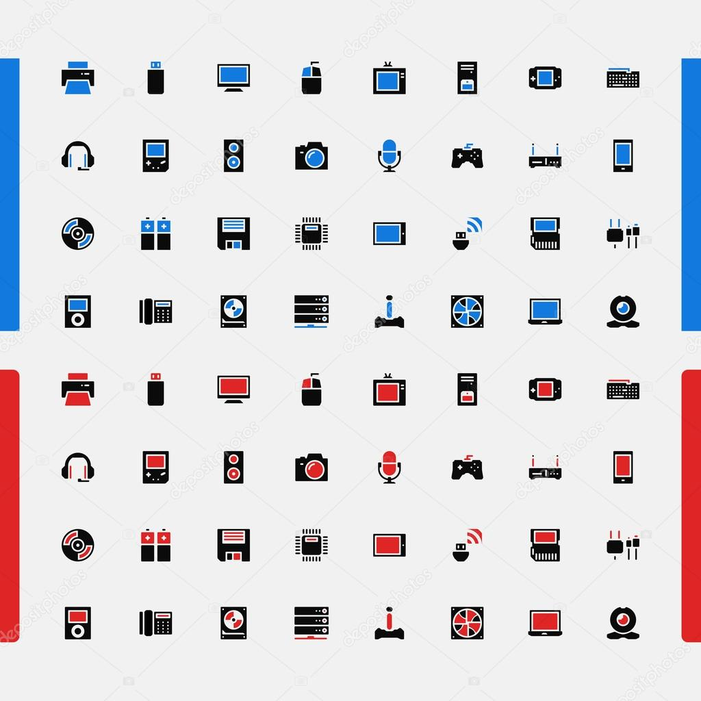 Set of small icons