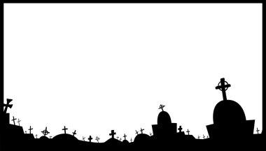 Cemetery frame. Vector illustration stock vector