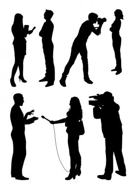 Interview  people silhouettes