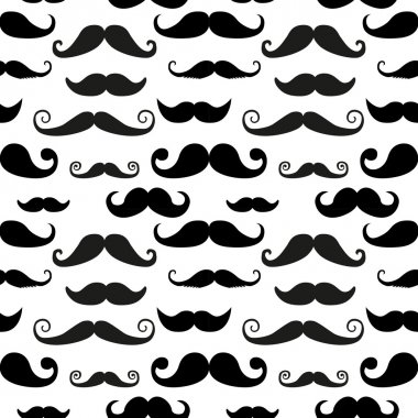 Mustache on white background