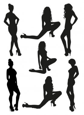 Black women silhouettes