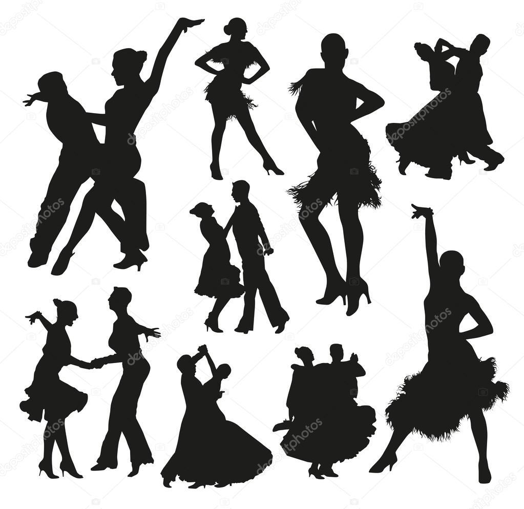 Ballroom Dancing Silhouette Vector Ballroom dance ...