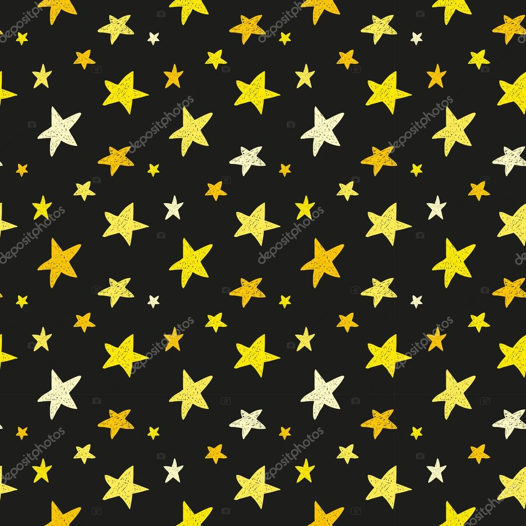 Yellow stars on black background