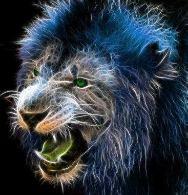Digital fantasy art of a lion