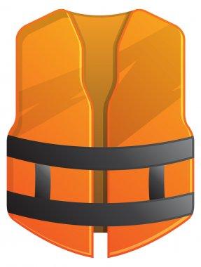 Orange Safety Vest - Illustration stock vector