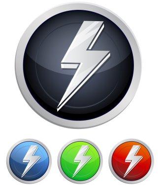 Lightening Bolt Icon - Illustration