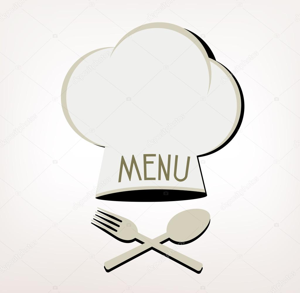 Menu Restaurant Logo with Hat Cher