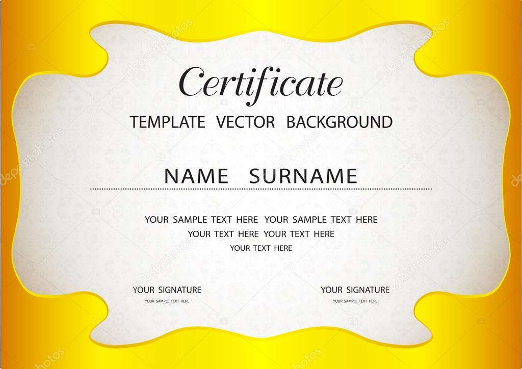 Certificate Of Completion Template  Stock Vector  Sazori