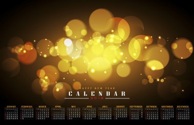 Calendar 2016 with abstract air bubble