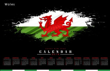 Wales (UK) calendar 2016