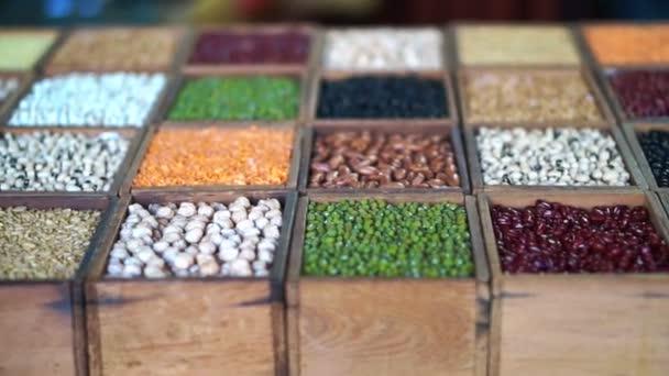 bunte Vielfalt von Bohnen. Multi Korn proteinreichen Lebensmittel