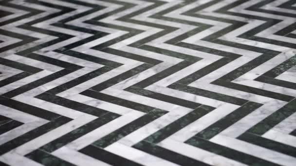 Kámen vzor cik cak černé a bílé mramorové podlaze