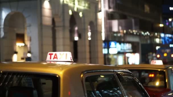 Taxi světelného města zázemí v noci