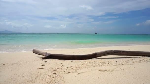 Tropický ráj tyrkysově modré zelené moře s pláž s bílým pískem