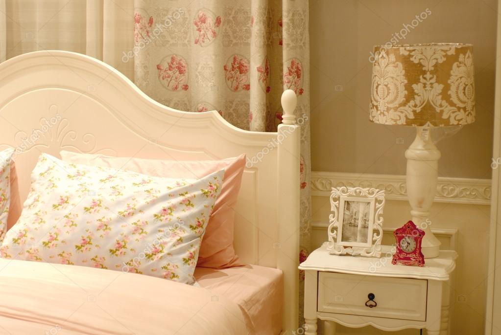 pink vintage bedroom interior design — Stock Photo © glowonconcept ...
