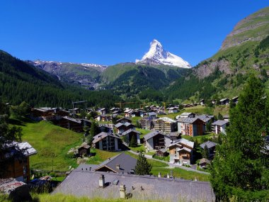 Zermatt Switzerland, green city