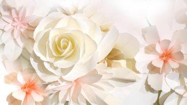 roses flower wedding background