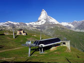 Matterhorn peak with cable car station